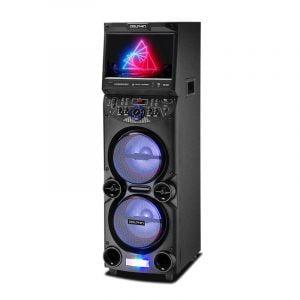 """KB-210 Dual 10"""" Karaoke Party Speaker with 15"""" Tablet"""