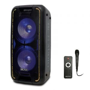 """SP-210RBT Dual 10"""" Rechargeable Party Speaker"""